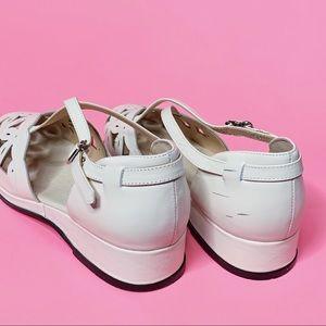 rocket originals Shoes - Rocket Originals Cream 1940s Vintage Style Sandal
